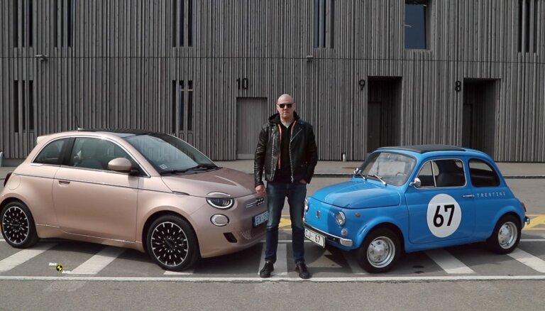 Latvijā ieradies jaunais 'Fiat 500' elektriskajā versijā