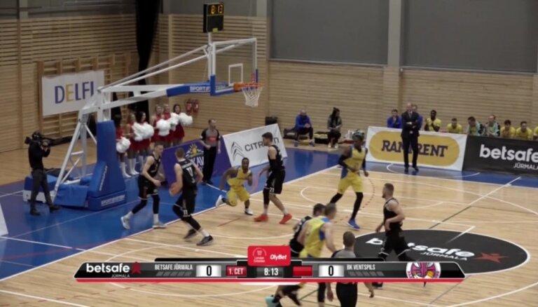'OlyBet' basketbola līga: 'Betsafe/Jūrmala' - 'Ventspils'. Labākie momenti (08.12.2018.)
