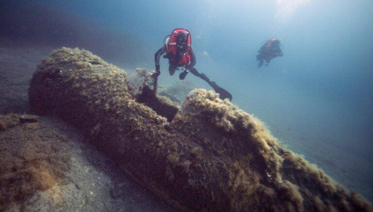 Foto: Kā Vidusjūrā meklē Otrā pasaules kara pilotu mirstīgās atliekas