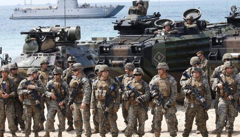 ASV militārie izdevumi pērn pieauguši pirmoreiz pēdējos septiņos gados, liecina pētījums