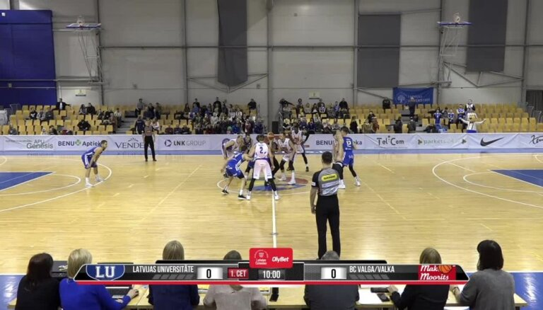 'OlyBet' basketbola līga: LU - 'Valga-Valka/ Maks&Moorits'. Pilns ieraksts