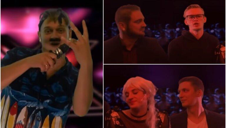 Video: Jaunieši parodē šovu 'X Faktors'