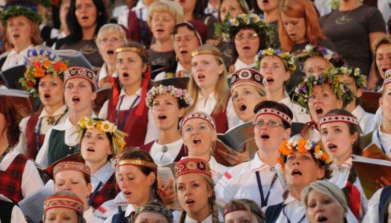 Dziesmu svētku kods: visi kopš 1990. gada noslēguma koncertos izpildītie skaņdarbi