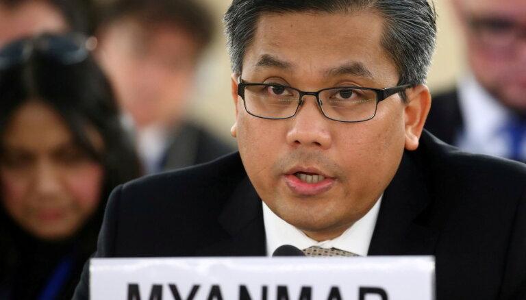 Mjanmas pārstāvis ANO apsūdz militāro huntu par slaktiņu