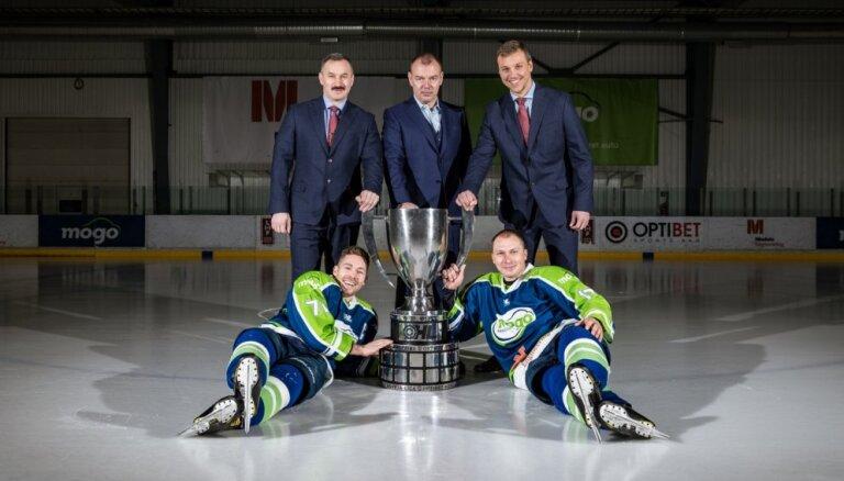 Hokeja kluba 'Mogo' prezidents Māris Martinsons vēlas nākamgad aizstāvēt titulu