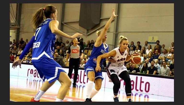 Latvijas sieviešu basketbola izlase pirms došanās uz Pasaules kausa izcīņu apspēlē Grieķiju