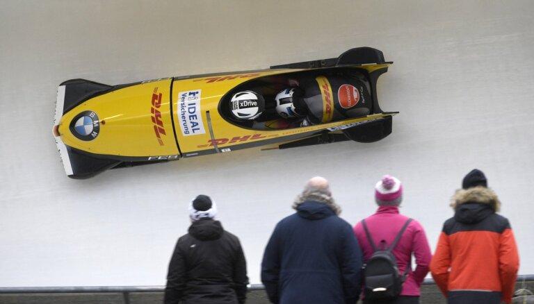 Latviešiem nepiedaloties, par Eiropas čempioniem divniekos kļūst Vācijas bobslejisti Frīdrihs un Margiss