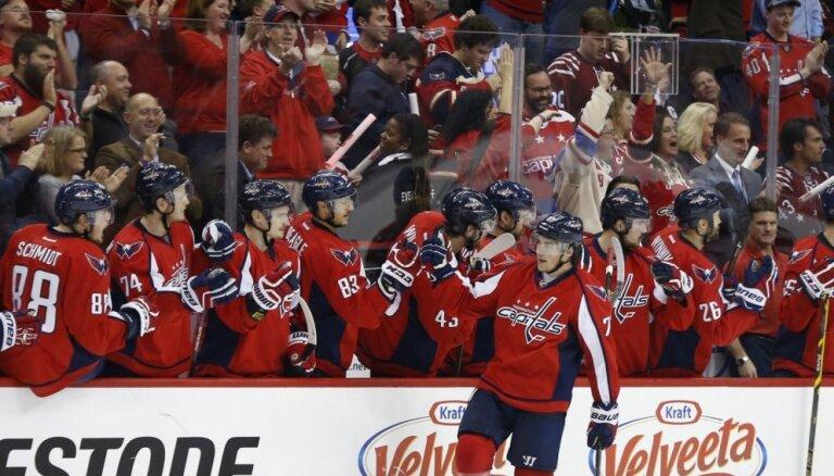 'Capitals' ar uzvaru pagarinājumā sāk Stenlija kausa dueli pret 'Penguins'