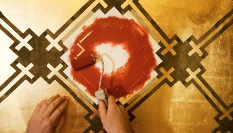 Dekoratīvs sienas noformējums – krāsojums ar trafaretu