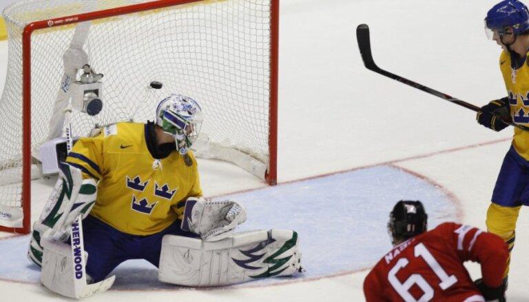 Kanāda uzvar Zviedriju, gatavojas Krievijai ceturtdaļfinālā