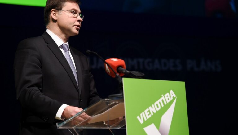 """Домбровскис: """"Единству"""" нужно выступить с четкой картиной дальнейшего развития страны"""