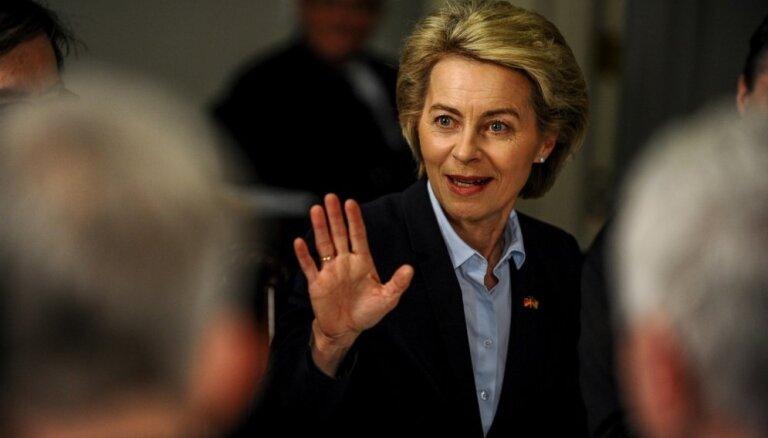 Vācijas aizsardzības ministre pauž atbalstu kopīgas Eiropas aizsardzības savienības izveidošanai