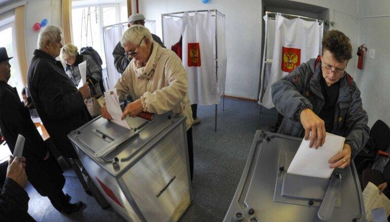 Krievijā svētdien notiek Valsts domes vēlēšanas
