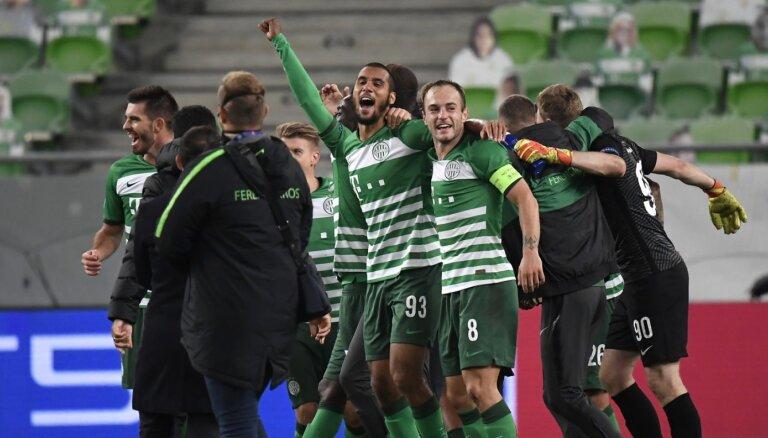 'Ferencvaros' pirmo reizi 25 gadu laikā sasniedz UEFA Čempionu līgas grupu turnīru