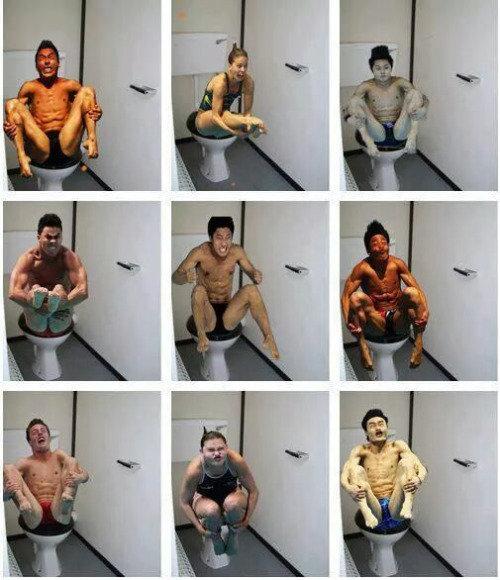 Olimpiskie peldētāji labierīcībās