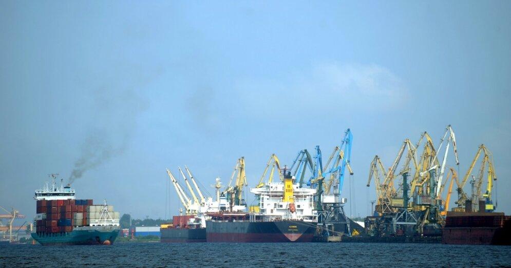 В январе в портах Латвии перевалено почти на треть меньше грузов