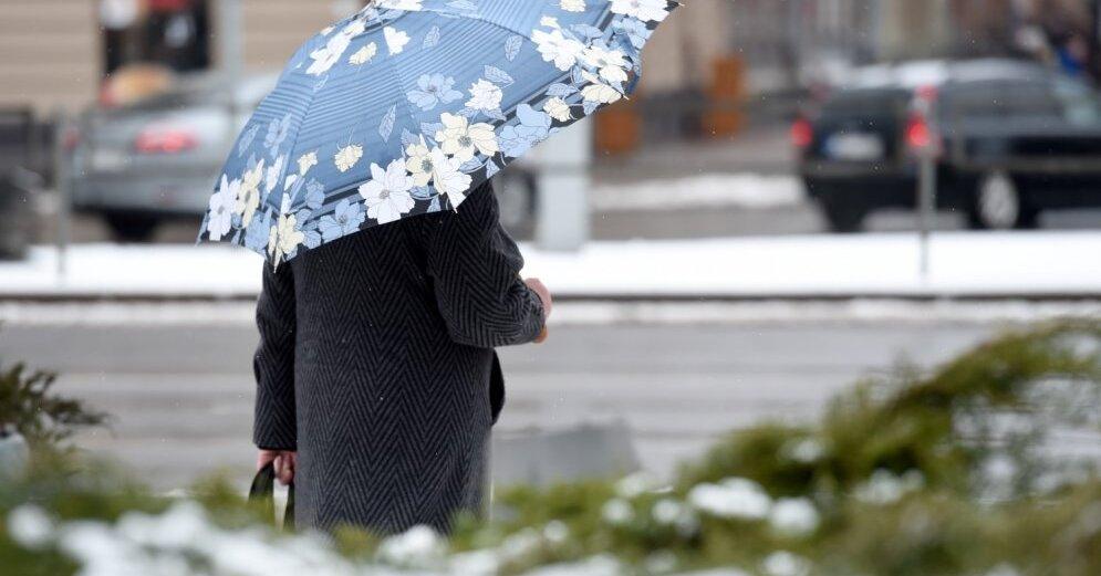 В конце недели по Латвии пройдут снегопады и дожди