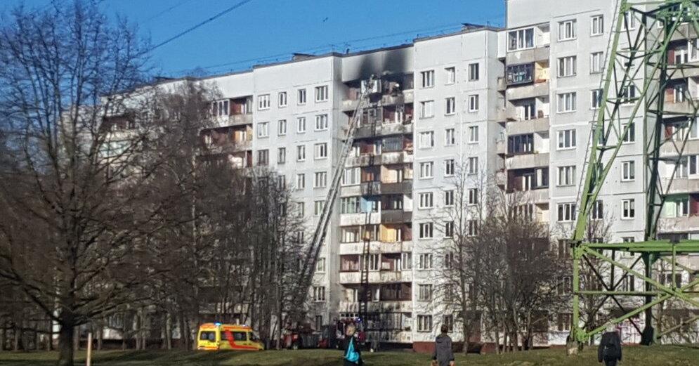 В Таллинне при пожаре в квартире пострадал пожилой мужчина