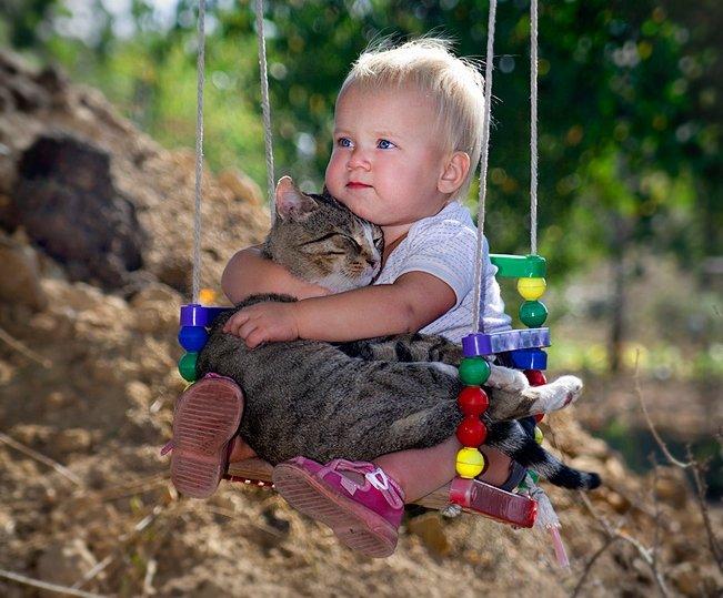 Почему у каждого ребенка должен быть кот? 14 веских причин...
