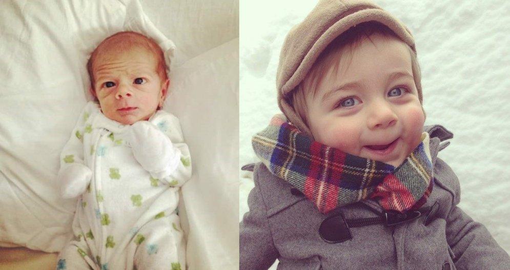 Bērni, kuri jau pēc dzimšanas izskatās pēc večukiem