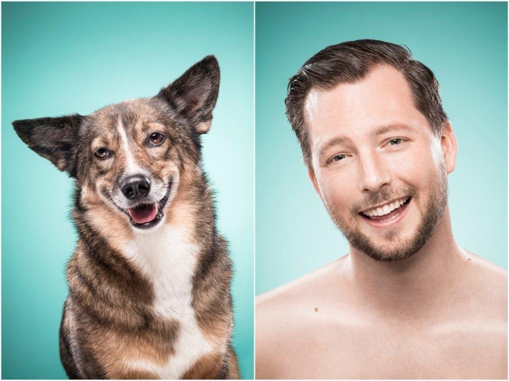 Kad sunim un viņa saimniekam ir pilnīgi vienādas sejas
