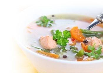 Zivju un jūras produktu zupas