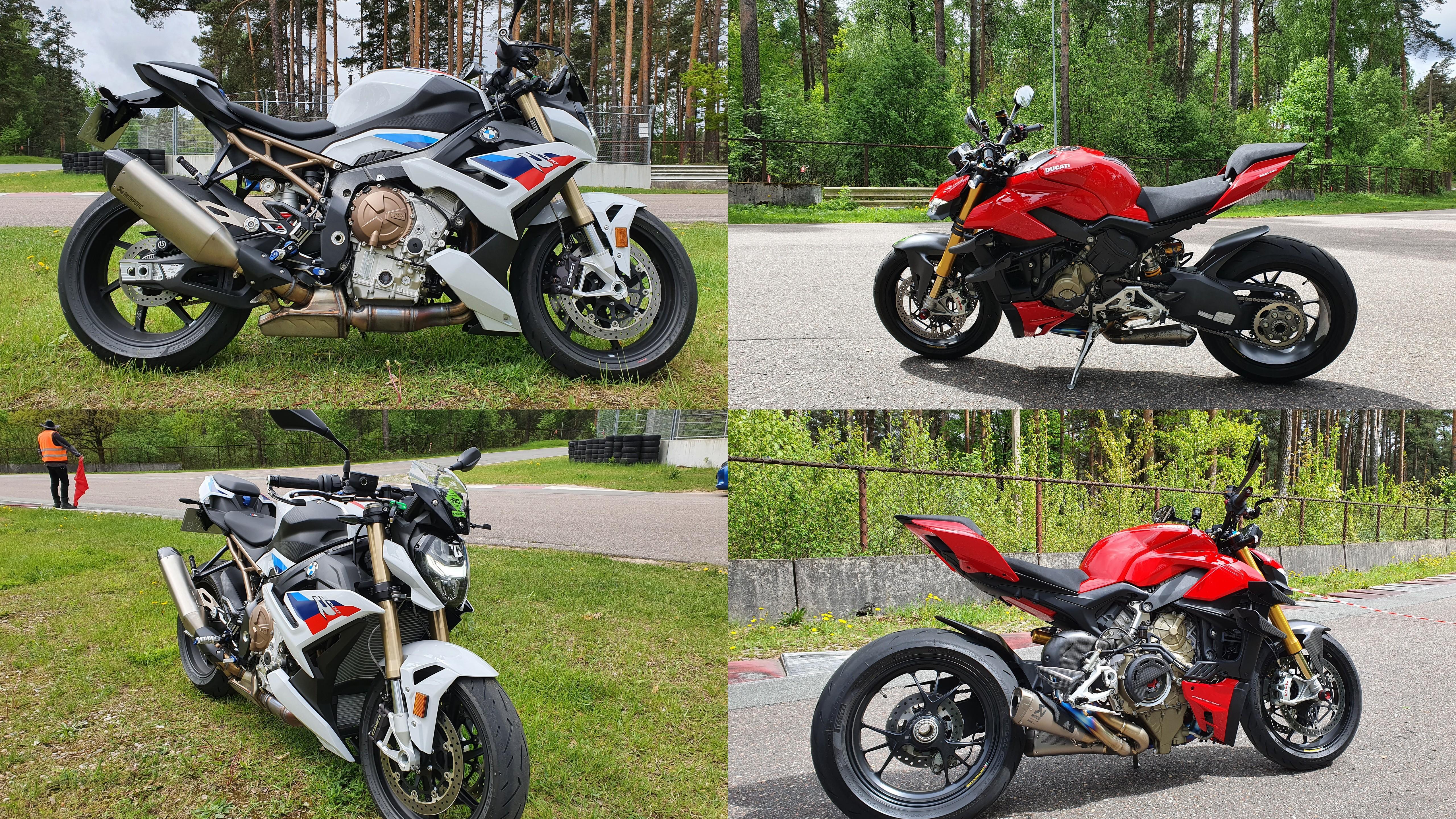 """BMW S1000R un """"Ducati Streetfighter V4s"""""""