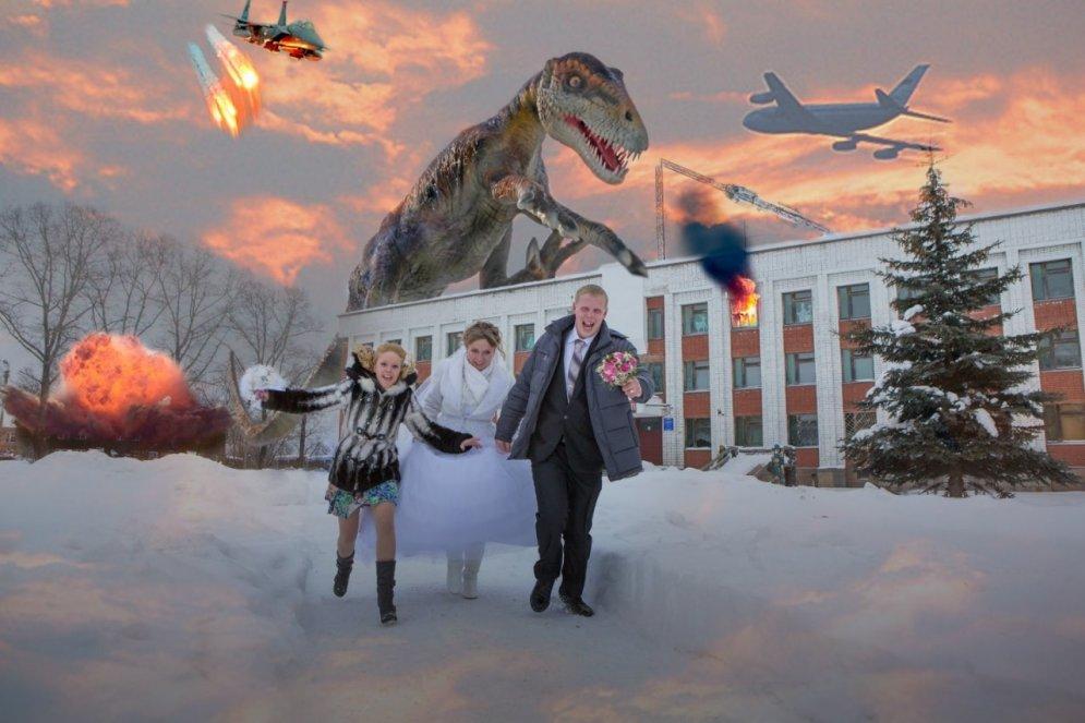 Dīvainas, spocīgas, kreatīvas bildes – tā ļaudis precas Krievijā