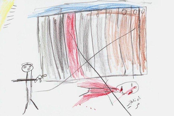 Traģiska bērnība: karadarbības zonās dzīvojošo bērnu zīmējumi